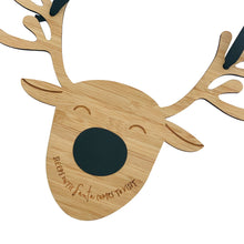 Reindeer Sleeps until Santa Christmas Chalkboard Countdown Sign
