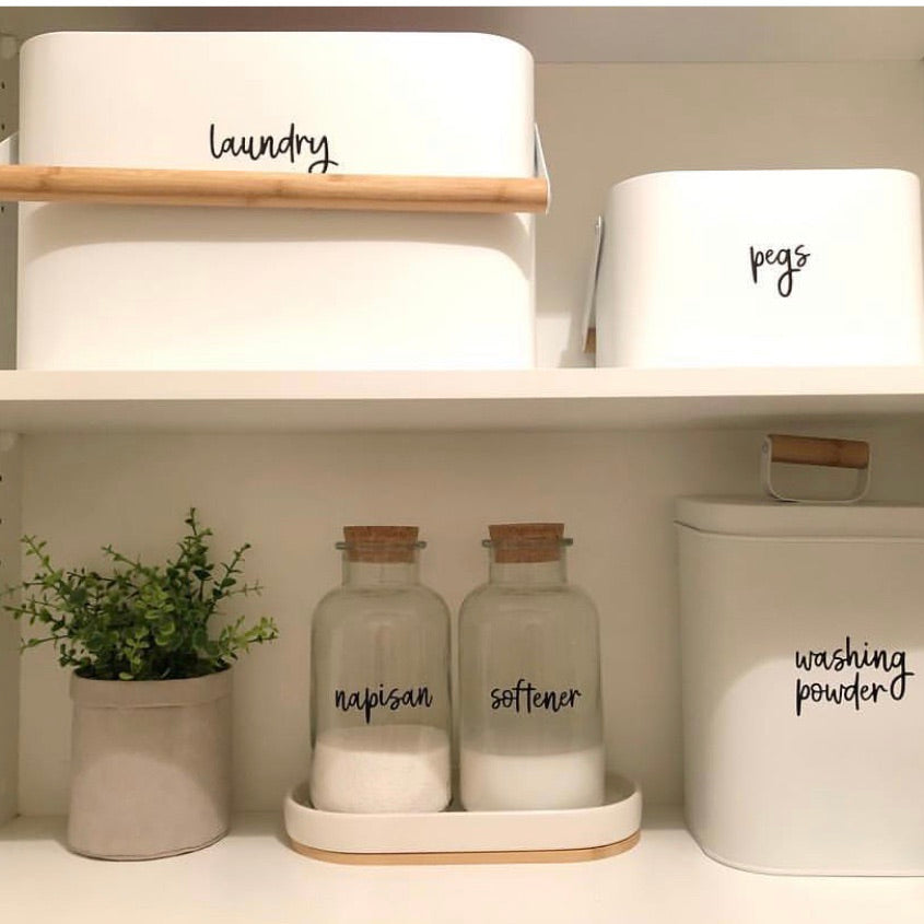 Laundry Label Sets Pantry Kmart Jars Pretty Little Designs Pretty Little Designs Pty Ltd