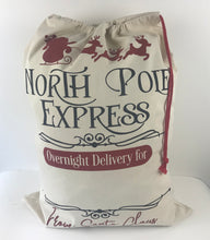 "Christmas Santa sacks with ""North Pole Express"""