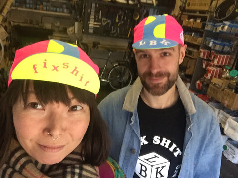 Fluoro Alphabet Soup Cycling Cap