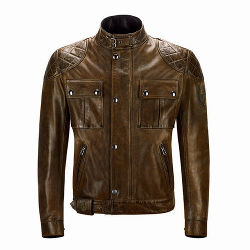BELSTAFF BROOKLANDS MOJAVE LEATHER JACKET - BURNT CUERO