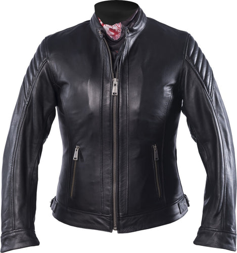 HELSTONS STAR LEATHER JACKET WOMEN'S - SOFT BLACK