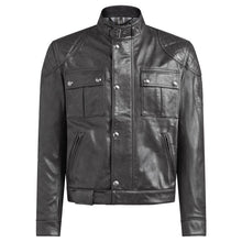 BELSTAFF BROOKLANDS MOJAVE LEATHER JACKET - ANTIQUE BLACK
