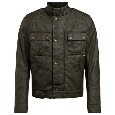 BELSTAFF SIGNATURE BROOKLANDS PRO WAX COTTON JACKET - OLIVE GREEN