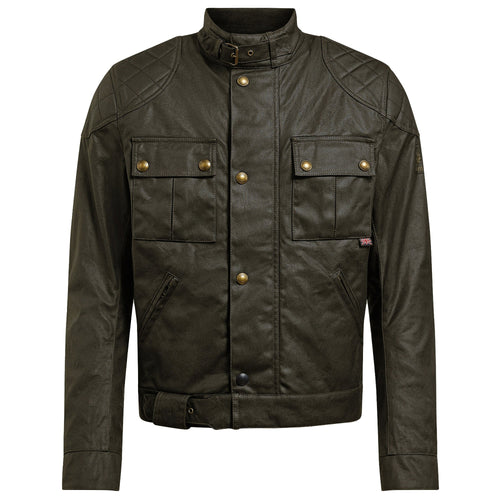 BELSTAFF 2020 SIGNATURE BROOKLANDS PRO WAX COTTON JACKET - OLIVE GREEN