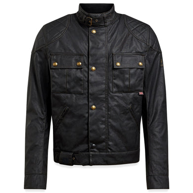 BELSTAFF SIGNATURE BROOKLANDS PRO WAX COTTON JACKET - BLACK