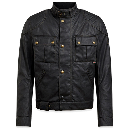BELSTAFF 2020 SIGNATURE BROOKLANDS PRO WAX COTTON JACKET - BLACK