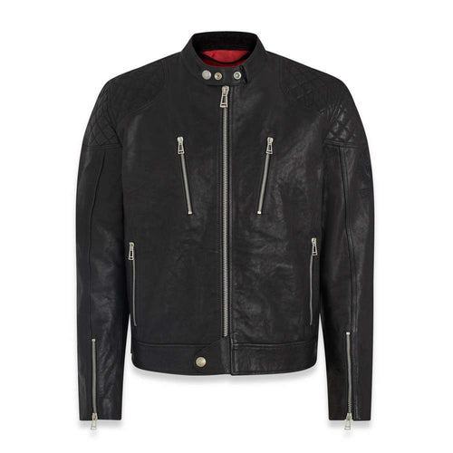BELSTAFF CHEETHAM LEATHER JACKET - BLACK