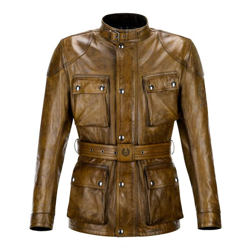 BELSTAFF TRIALMASTER CLASSIC TOURIST TROPHY LEATHER JACKET - BURNT CUERO