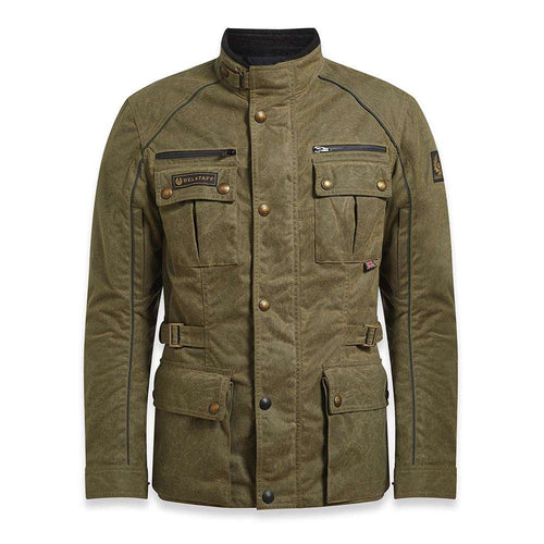 BELSTAFF TOURMASTER PRO TECHNICAL WAX JACKET - MILITARY GREEN