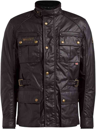 BELSTAFF TOURMASTER PRO TECHNICAL WAX JACKET - BLACK