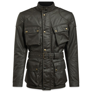 BELSTAFF SIGNATURE TRIALMASTER PRO WAX COTTON JACKET - OLIVE GREEN