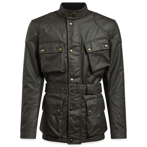 BELSTAFF 2020 SIGNATURE TRIALMASTER PRO WAX COTTON JACKET - OLIVE GREEN