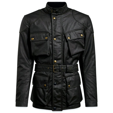 BELSTAFF SIGNATURE TRIALMASTER PRO WAX COTTON JACKET - BLACK