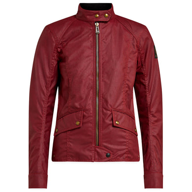 BELSTAFF ANTRIM LADIES TECHNICAL WAX JACKET - RACING RED