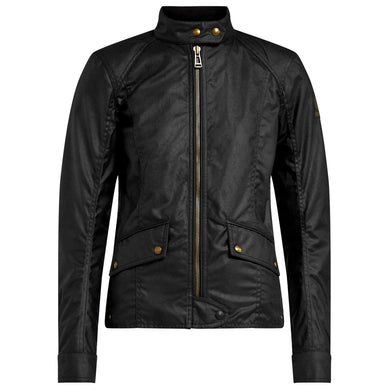BELSTAFF ANTRIM LADIES TECHNICAL WAX JACKET - BLACK