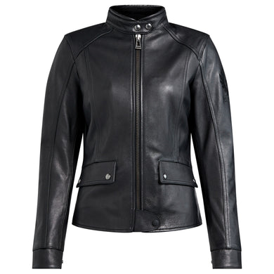 BELSTAFF FAIRING LADIES LEATHER JACKET - BLACK