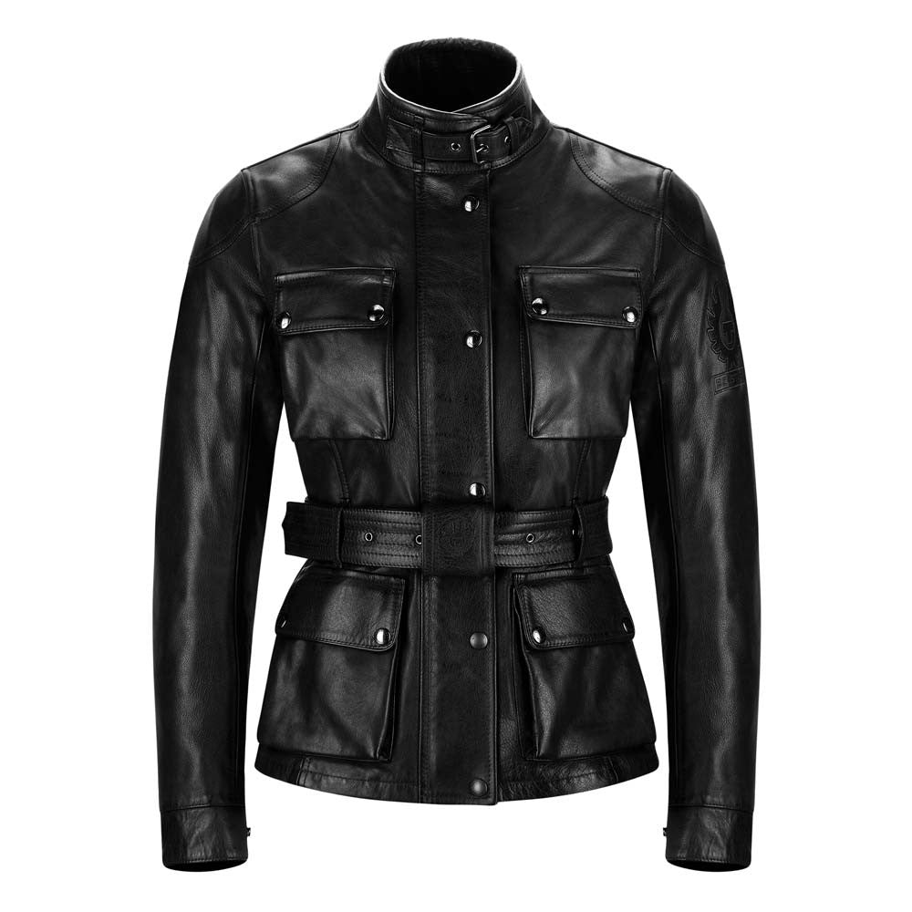 BELSTAFF TRIALMASTER CLASSIC TOURIST TROPHY LEATHER LADIES JACKET - BLACK