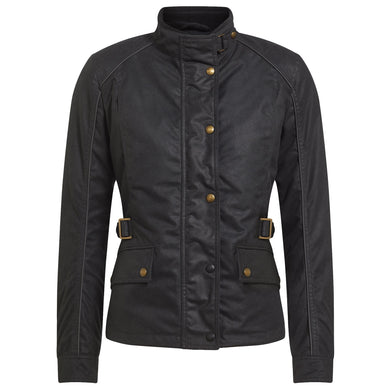 BELSTAFF TOURMASTER PRO LADIES TECHNICAL WAX JACKET - BLACK