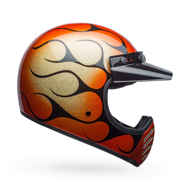 BELL MOTO-3 CHEMICAL CANDY FLAMES ORANGE/BLACK