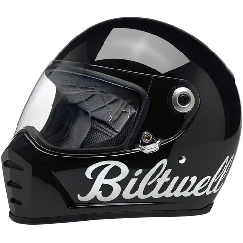 BILTWELL LANE SPLITTER GLOSS BLACK FACTORY HELMET