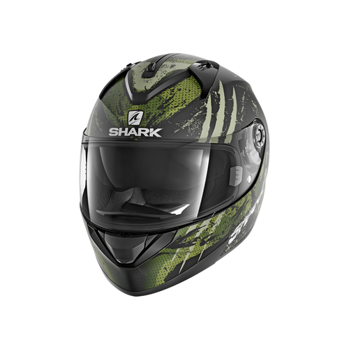 SHARK RIDILL ECE THREEZY MATTE BLACK/WHITE/GREEN HELMET