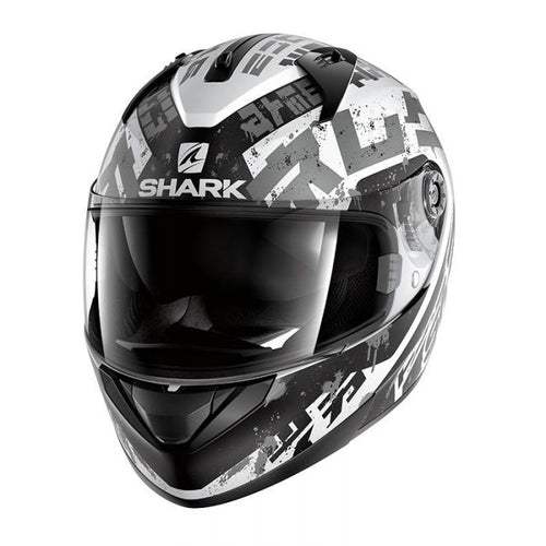 SHARK RIDILL KENGAL WHITE/BLACK/SILVER HELMET