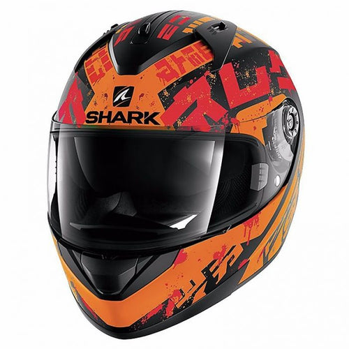 SHARK RIDILL KENGAL MAT BLACK/ORANGE/RED HELMET