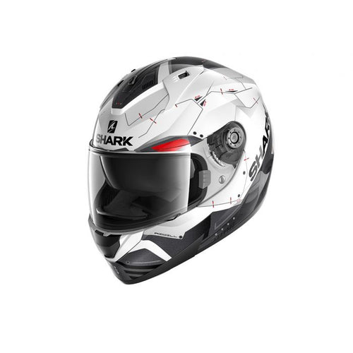SHARK RIDILL MECCA WHITE/BLACK/RED HELMET