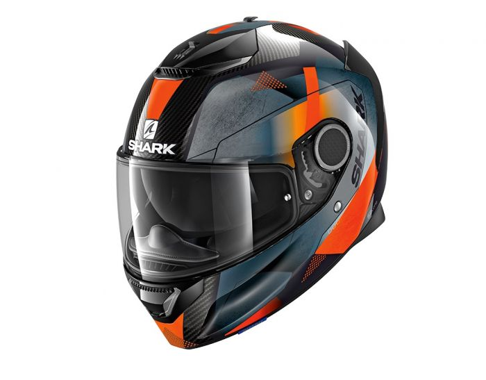 SHARK SPARTAN CARBON ECE KITARI CARBON/ORANGE/ANTHRACITE HELMET