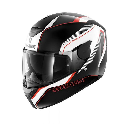 SHARK D-SKWAL RAKKEN BLACK/WHITE/RED HELMET
