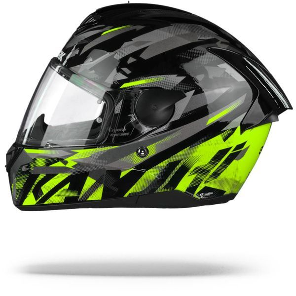 SHARK D-SKWAL ECE KANHJI BLACK/YELLOW/ANTHRACITE HELMET