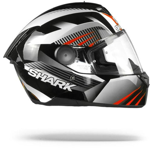 SHARK D-SKWAL ECE MERCURIUM BLACK/WHITE/RED HELMET