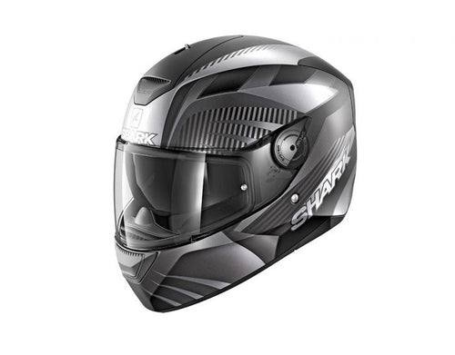 SHARK 2020 D-SKWAL 2 MERCURIUM BLACK/ANTHRACITE HELMET