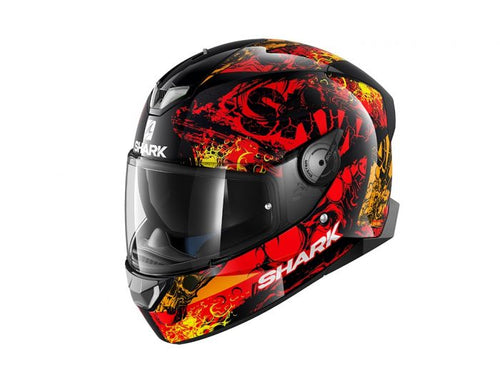 SHARK SKWAL 2 ECE NUK'HEM BLACK/RED/ORANGE HELMET