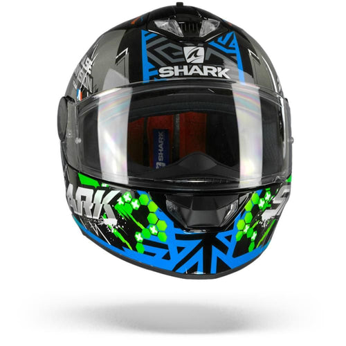 SHARK SKWAL 2 NOXXYS HELMET BLACK/BLUE/GREEN