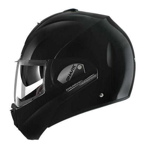 SHARK EVOLINE ECE SERIES 3 BLANK BLACK HELMET