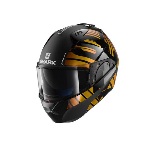 SHARK EVO-ONE 2 ECE LITHION DUAL BLACK/CHROME/GOLD HELMET