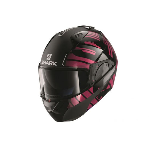 SHARK EVO-ONE 2 ECE LITHION DUAL BLACK/CHROME/VIOLET HELMET