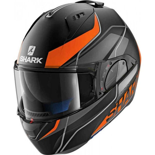 SHARK EVO-ONE 2 ECE KRONO MATTE BLACK/ORANGE/WHITE HELMET