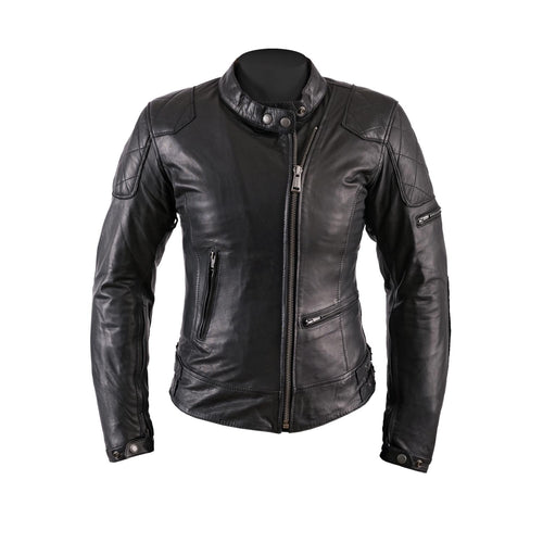 HELSTONS KS70 LADIES LEATHER JACKET - SOFT BLACK