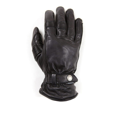 HELSTONS BOSTON SUMMER WATERPROOF LEATHER GLOVE - BLACK