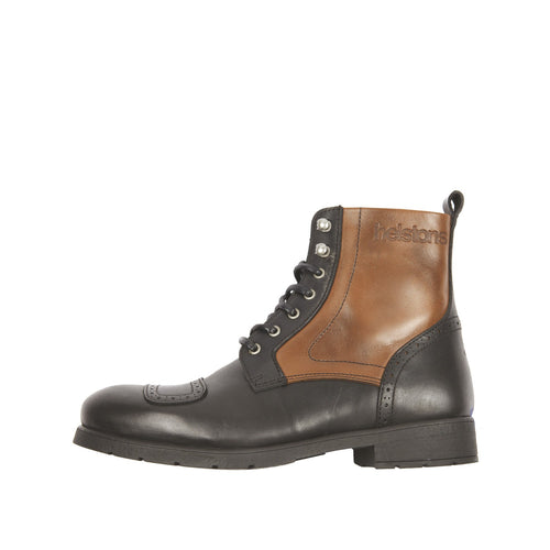 HELSTONS TRAVEL LEATHER BOOTS - ANILINE BLACK/TAN