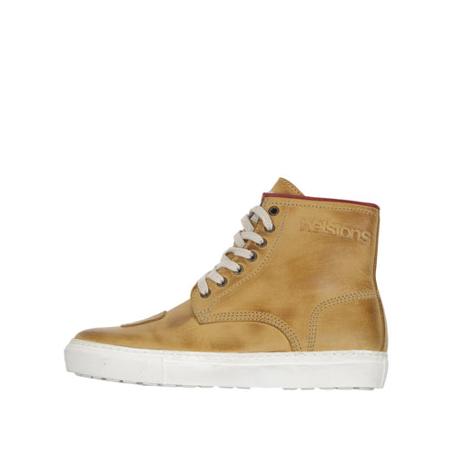 HELSTONS C4 LEATHER WOMENS BOOTS - NUBUCK PEACH