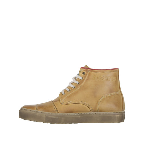 HELSTONS C5 LEATHER BOOTS - NUBUCK PEACH