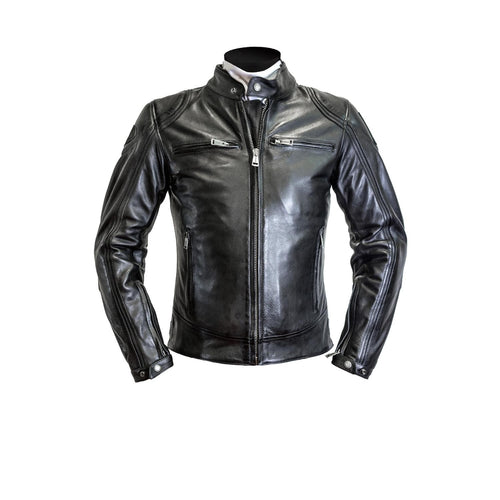 HELSTONS MODELO LEATHER JACKET - RAG BLACK/BLACK