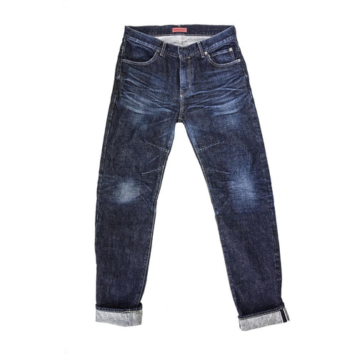 HELSTONS ARAKAWA 15OZ RED SELVEDGE JEANS WASHED