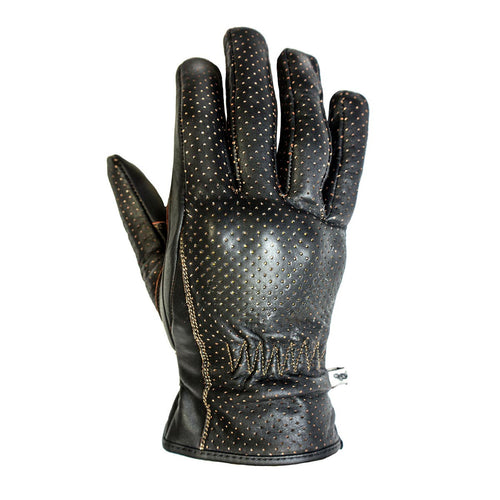 HELSTONS BASIC SUMMER LEATHER GLOVE - BROWN