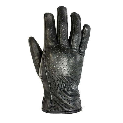 HELSTONS BASIC SUMMER LEATHER GLOVE - BLACK