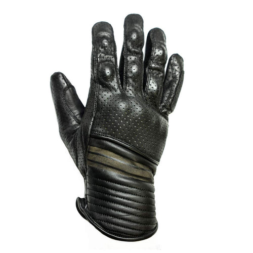 HELSTONS CORPORATE SUMMER LEATHER GLOVE - BLACK